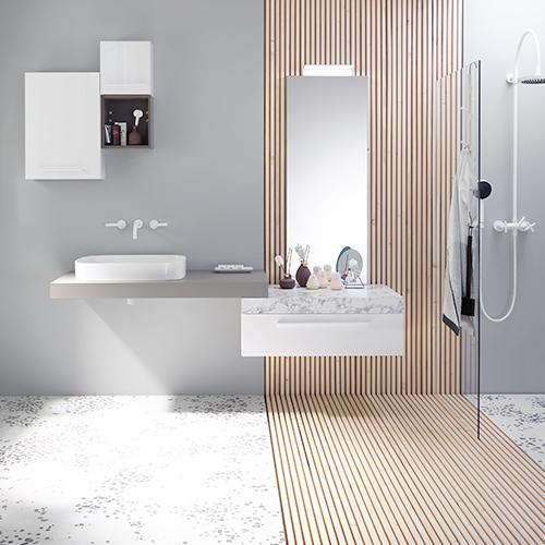 Modernes Design für ein barrierearmes Bad