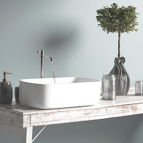 Waschtisch in entspanntem skandinavischen Design
