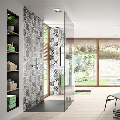 Wandverkleidungen in modernen Design für den Duschbereich