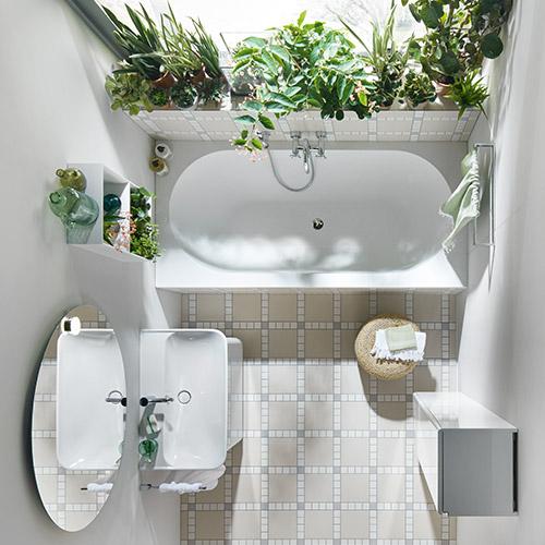 Ein modernes Badezimmer von burgbad bietet auch in kleinen Räumen Qualität.